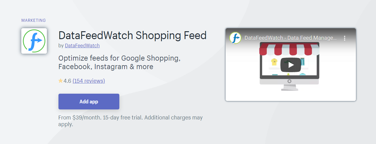 Top 10 Best Shopify App for Product Feeds - DataFeedWatch Shopping Feed