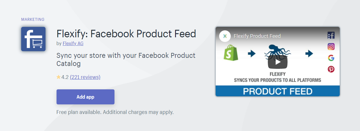 Top 10 Best Shopify App for Product Feeds - Flexify Facebook Product Feed