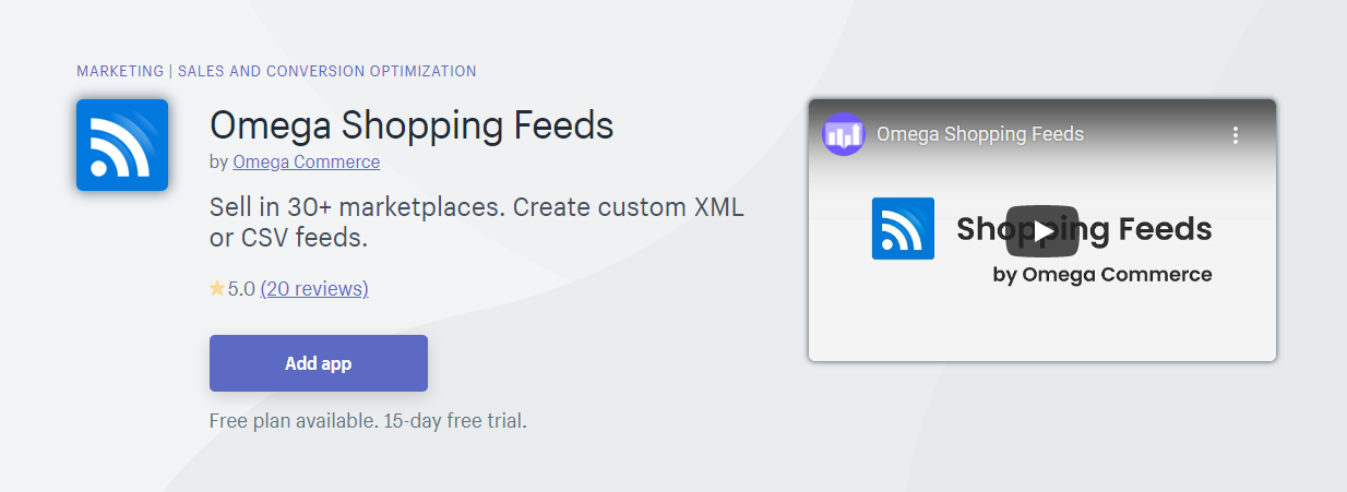 Top 10 Best Shopify App for Product Feeds - Omega Shopping Feeds