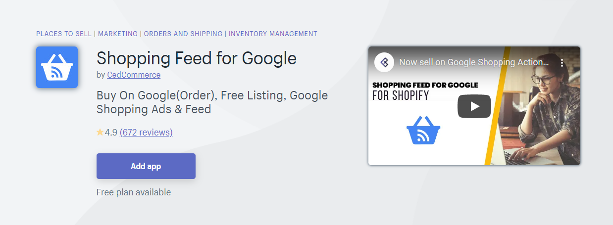 Top 10 Best Shopify App for Product Feeds - Shopping Feed For Google